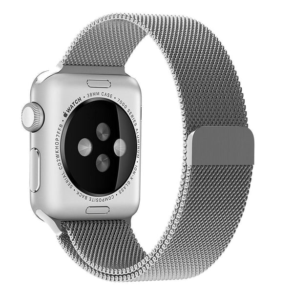Apple Watch Band-Silver Colour; Magnetic Closure Clasp Milanese Mesh Loop; Stainless Steel Bracelet Strap for Apple iWatch Sport & Edition 42mm. [FREE DELIVERY AUSTRALIA-WIDE; 7-11 DAYS]