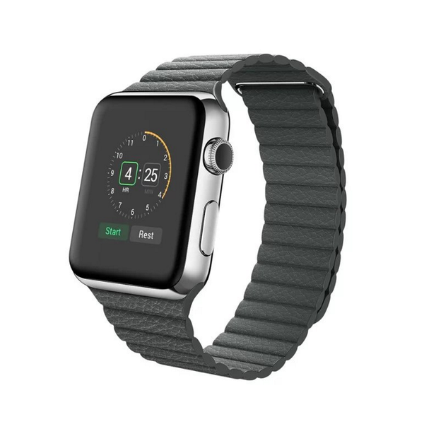 Apple Watch Band Leather Loop;Adjustable Magnetic High-fibre Bracelet Strap for Apple Watch 42mm. [FREE DELIVERY AUSTRALIA-WIDE; 7-11 DAYS]