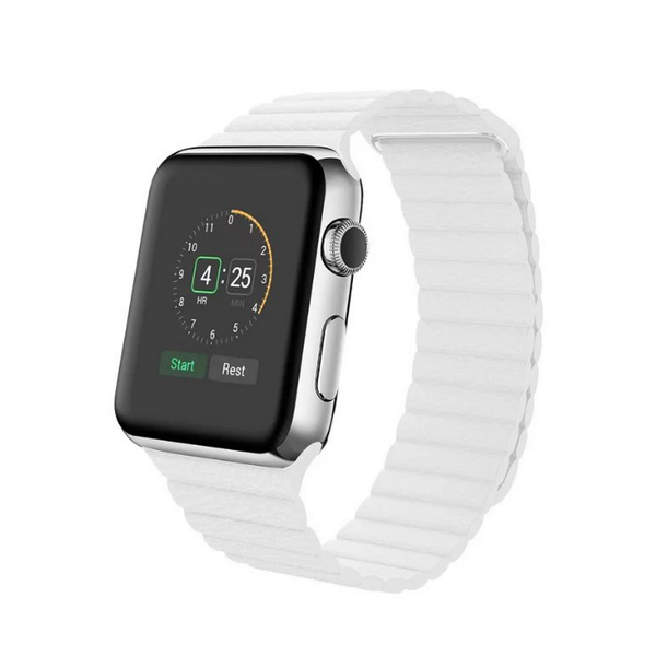 Apple Watch Band Leather Loop; Adjustable Magnetic High-fibre Bracelet Strap for Apple Watch 42mm. [FREE DELIVERY AUSTRALIA-WIDE; 7-11 DAYS].