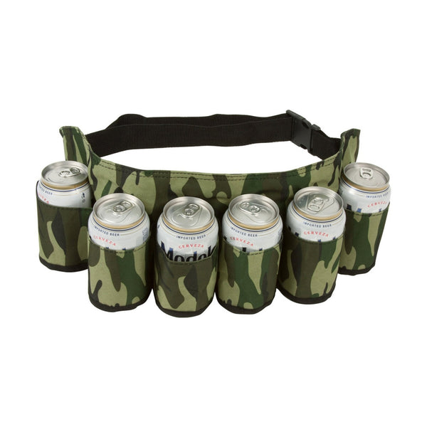 Camouflage Beer Belt. [FREE DELIVERY AUSTRALIA-WIDE; 7-11 DAYS]