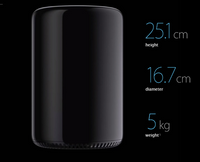 Apple Mac Pro - 3.5GHz 6-core processor, 256GB storage, 16GB memory[Click & Collect only (see details)**]