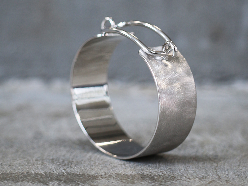 silver sølv brushed børsted bangle armband story link picture