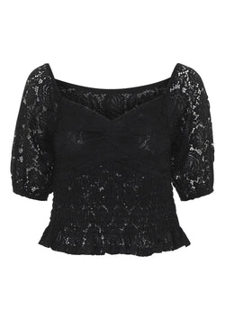 Elvira's Wardrobe Bellevue Top Sort Black Lace Packshot