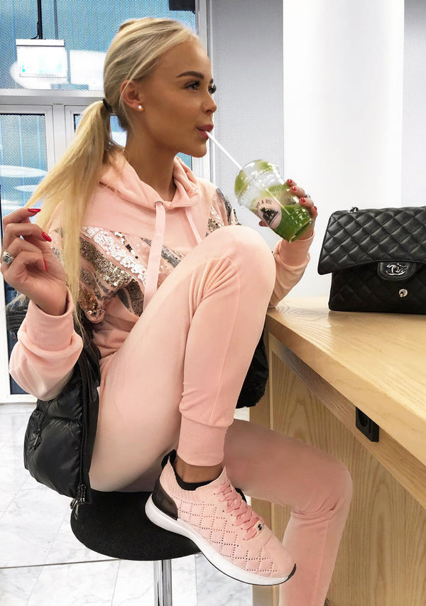 Candyfloss pink tracksuit