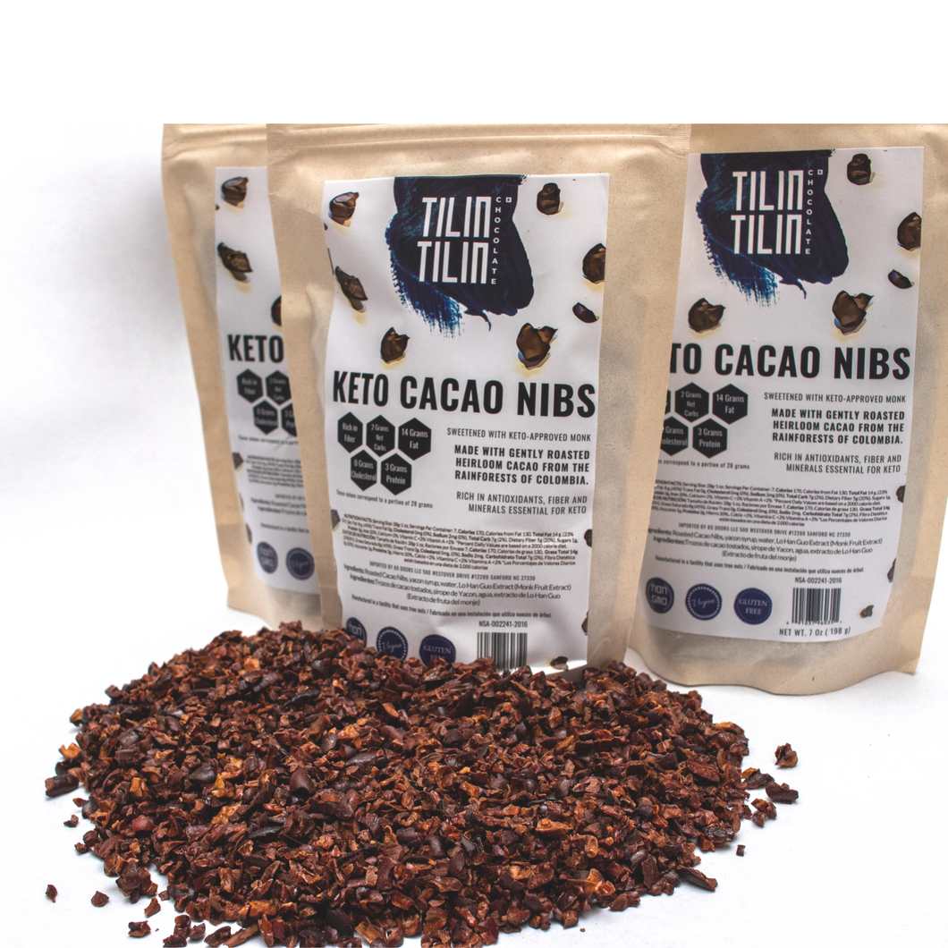 Keto Cacao Nibs (5 bags of 7 ounces each)