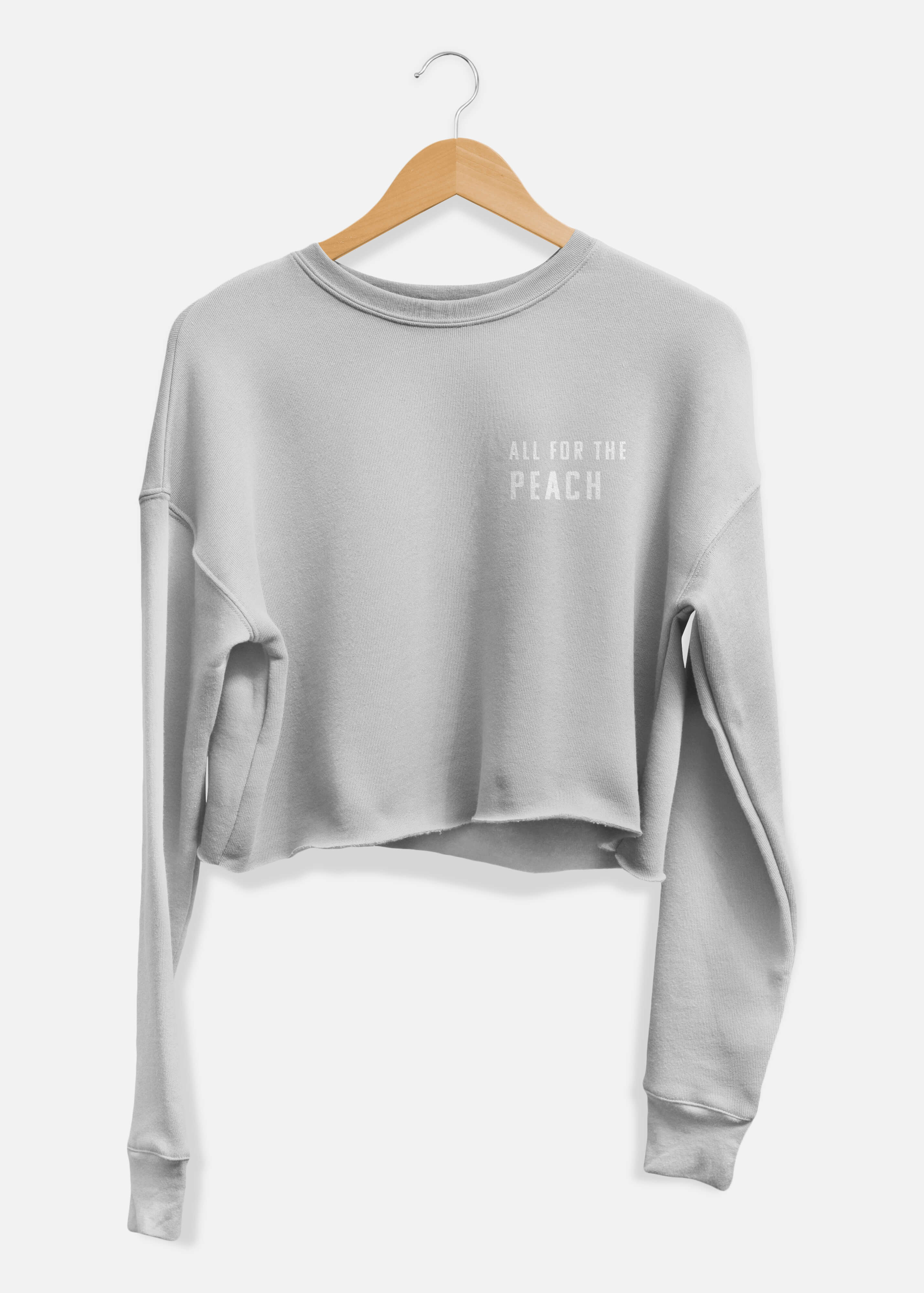 All For The Peach Cropped Sweater