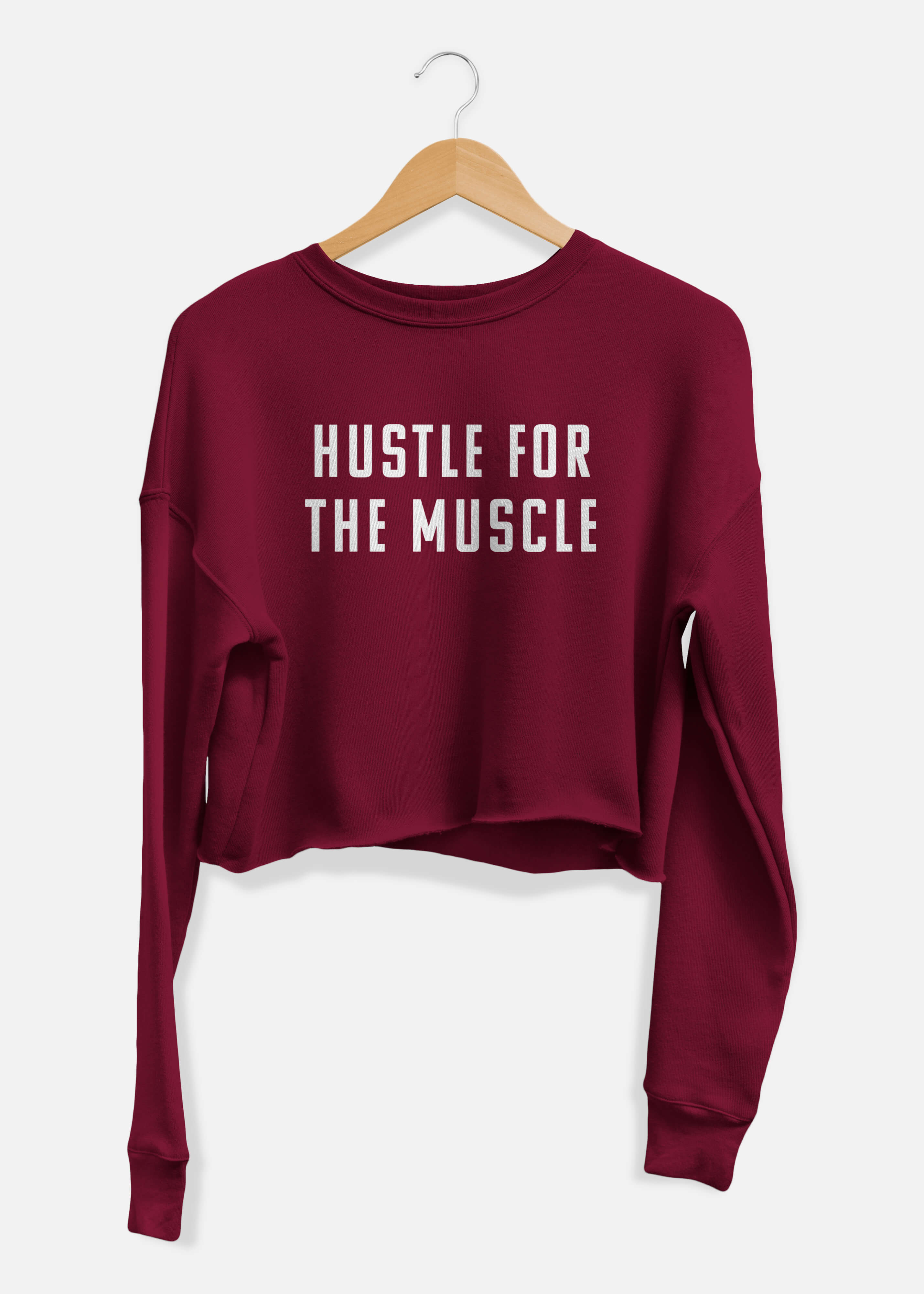 Hustle For The Muscle Cropped Sweater