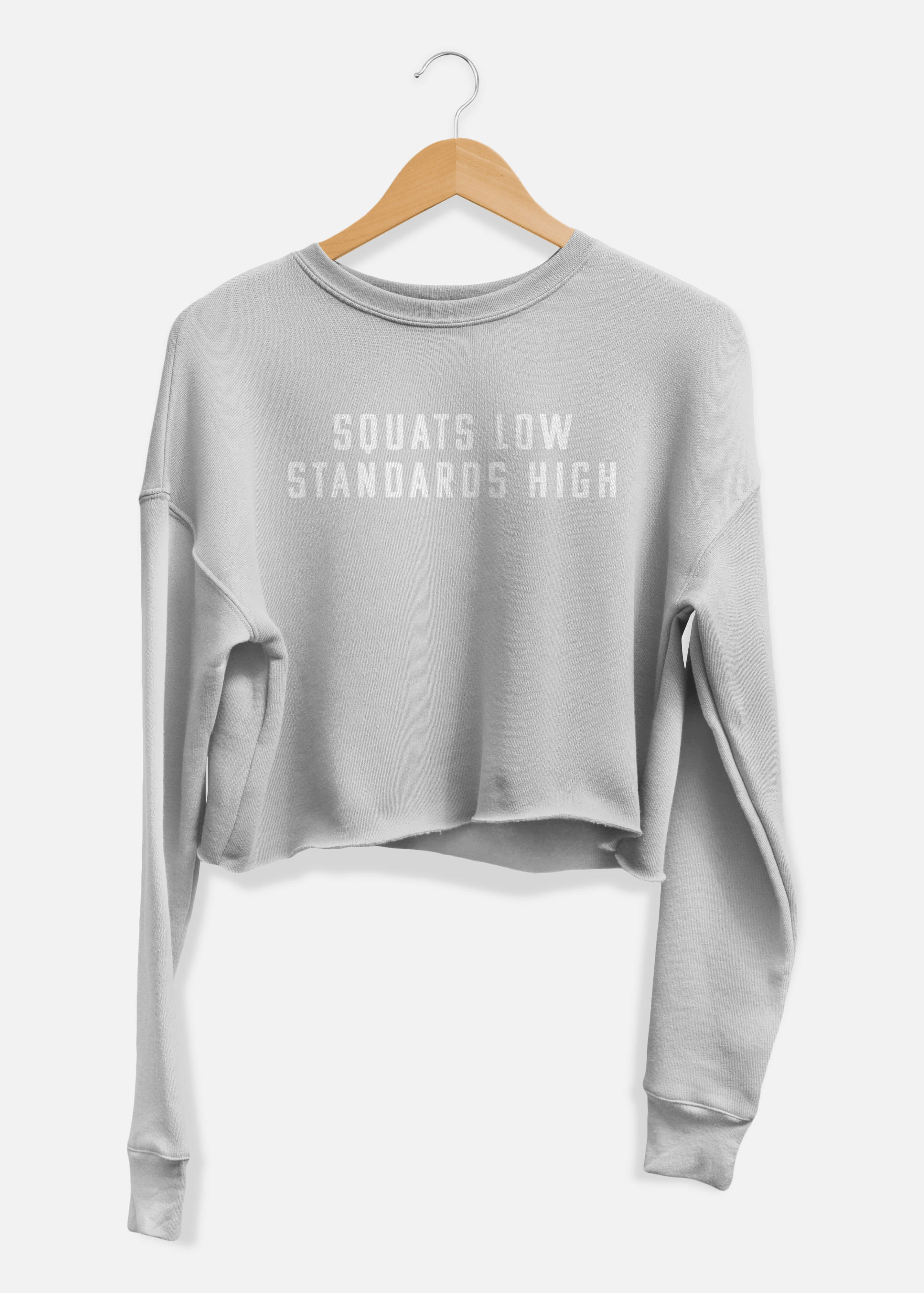 Squats Low Standards High Cropped Sweater