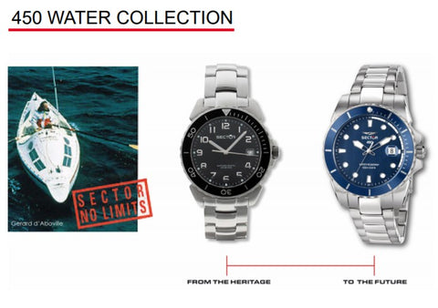 orologi sector 450 water collection