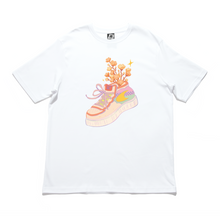 "Load image into Gallery viewer, ""Bloom Again"" Cut and Sew Wide-body Tee White"