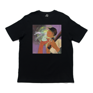 """The Blessing"" Cut and Sew Wide-body Tee Black"