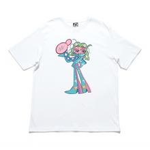 "Load image into Gallery viewer, ""STEADY"" Cut and Sew Wide-body Tee White"