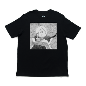 """Star"" - Cut and Sew Wide-body Tee White/Black"
