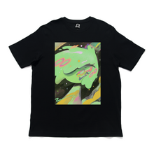 "Load image into Gallery viewer, ""Uchū/Space"" Cut and Sew Wide-body Tee Black"