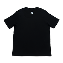 "Load image into Gallery viewer, ""Flowers"" Cut and Sew Wide-body Tee Black"