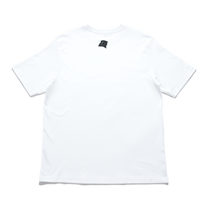 """Sticker Artist"" Cut and Sew Wide-body Tee White/Black"