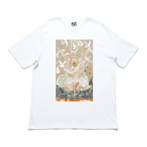 """St. Michael"" Cut and Sew Wide-body Tee White"