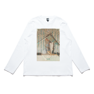 """The Shroud of Agincourt"" Cut and Sew Wide-body Long Sleeved Tee White"