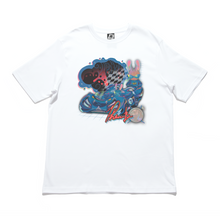 "Load image into Gallery viewer, ""Phantom Blue"" Cut and Sew Wide-body Tee White/Black"