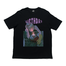 "Load image into Gallery viewer, ""Birthday"" Cut and Sew Wide-body Tee White/Black"