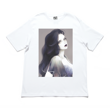 "Load image into Gallery viewer, ""D"" Cut and Sew Wide-body Tee White/Black"