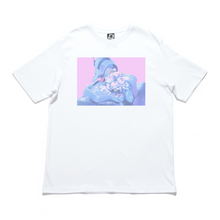 "Load image into Gallery viewer, ""Unit 01"" Cut and Sew Wide-body Tee White/Black"