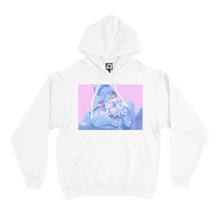 "Load image into Gallery viewer, ""Unit 01"" Basic Hoodie Black/White"