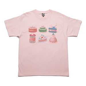 """A Cake Just for You"" Taper-Fit Heavy Cotton Tee Pink"