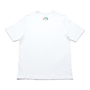 """Convergenza"" Cut and Sew Wide-body Tee White"