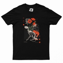 "Load image into Gallery viewer, ""CAT/猫"" Basic Cotton T-Shirt Black/White"