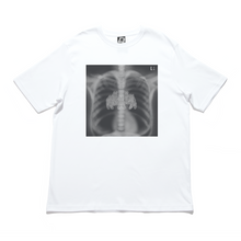 "Load image into Gallery viewer, ""X-Ray"" Cut and Sew Wide-body Tee White/Black"