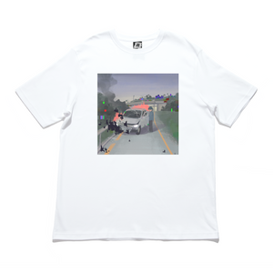 """404"" Cut and Sew Wide-body Tee White"