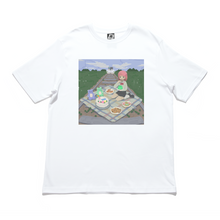 "Load image into Gallery viewer, ""Picnic"" Cut and Sew Wide-body Tee White/Black"