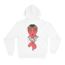 "Load image into Gallery viewer, ""Funeral Flowers"" Basic Hoodie Black/White"