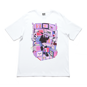 """DDR"" Cut and Sew Wide-body Tee White/Black"