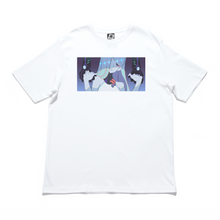 "Load image into Gallery viewer, ""Lucid"" Cut and Sew Wide-body Tee White/Black"
