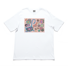 "Load image into Gallery viewer, ""Diary"" Cut and Sew Wide-body Tee White/Black"