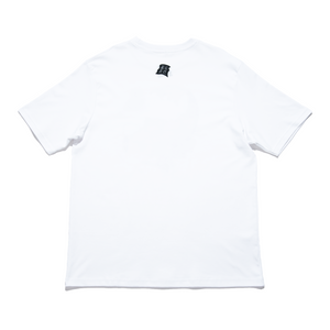 """Children of this Planet #8"" Cut and Sew Wide-body Tee White/Black"