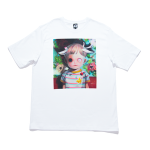 """Children of this Planet #6"" Cut and Sew Wide-body Tee White"