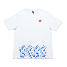 "Load image into Gallery viewer, ""Lonely Hero Red"" Cut and Sew Wide-body Tee White"