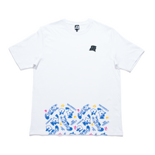 "Load image into Gallery viewer, ""Lonely Hero Black"" Cut and Sew Wide-body Tee White"