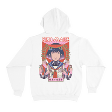 "Load image into Gallery viewer, ""Konbini Goddess"" Basic Hoodie White"