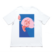 "Load image into Gallery viewer, ""Hey"" - Cut and Sew Wide-body Tee White"