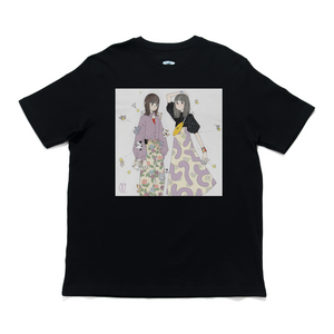 """Like Yourself"" Cut and Sew Wide-body Tee Black"