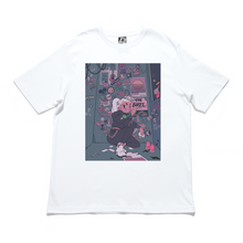 "Load image into Gallery viewer, ""Sticker Artist"" Cut and Sew Wide-body Tee White/Black"