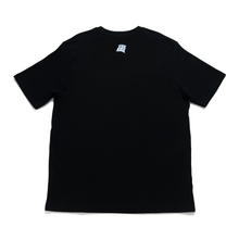 "Load image into Gallery viewer, ""Usagi Moon"" Cut and Sew Wide-body Tee Black"