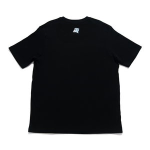 """Usagi Moon"" Cut and Sew Wide-body Tee Black"