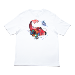 """Koinobori"" - Cut and Sew Wide-body Tee White"