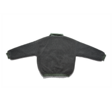 "Load image into Gallery viewer, ""Halo"" Fleece Jacket Grey/Olive"