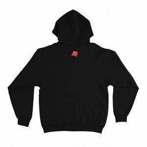 """Benevolent World"" Basic Hoodie Black/White"